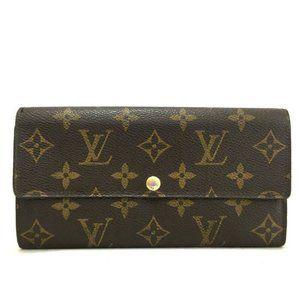 💯 Auth Louis Vuitton Sarah Bifold Wallet Monogram